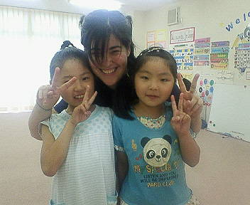 Me and two of my favourite students in Japan.