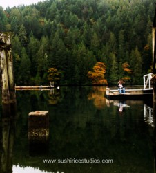 Mother and daughter enjoying nature | portrait photography Victoria BC