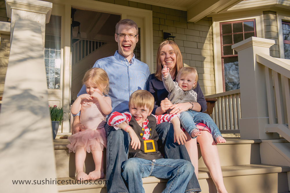 Fun in home family documentary photography - Fun and Stress