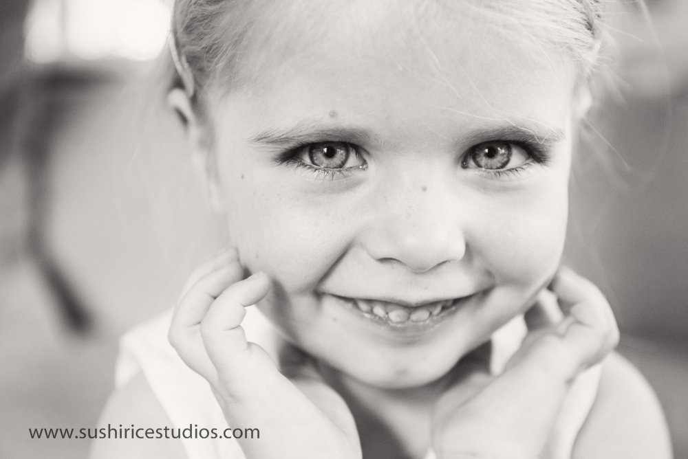 Up close of 4 year old girl