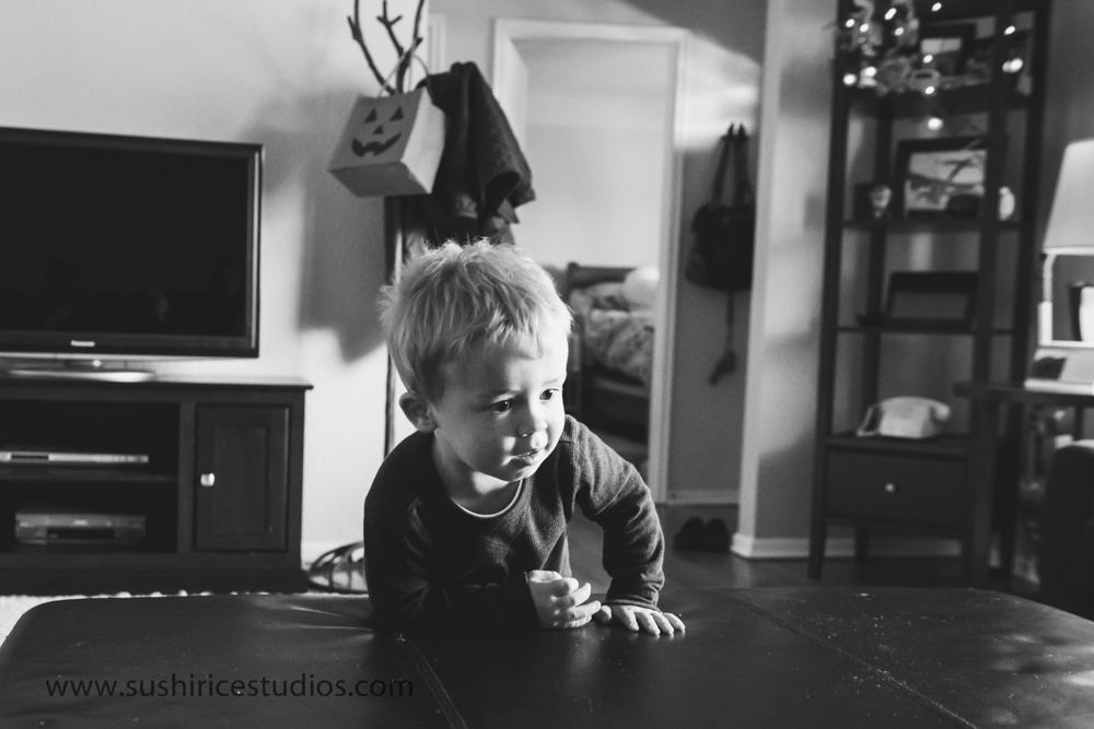 Toddler running through home